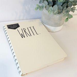RAE DUNN Notebook WRITE